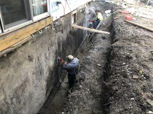 Saw Cutting Foundation Wall